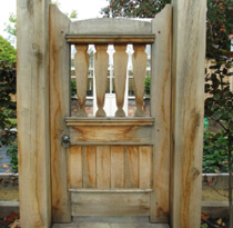 Garden gate as a focal point